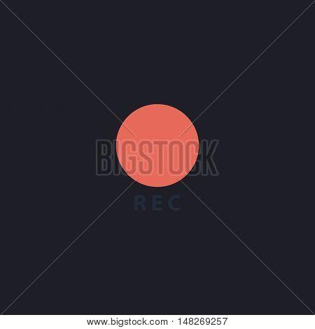 Rec Color vector icon on dark background