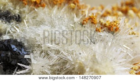Aragonite crystal mineral samples, a rare earth mineral