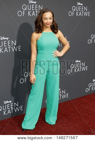 Nia Sioux at the Los Angeles premiere of 'Queen Of Katwe' held at the El Capitan Theatre in Hollywood, USA on September 20, 2016.
