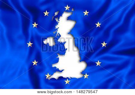 European flag missing United Kingdom. Financial concept for brexit. 3d illustration.