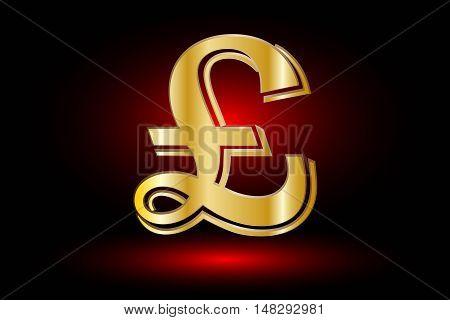 Pound symbol ,Pound symbol icon on red background