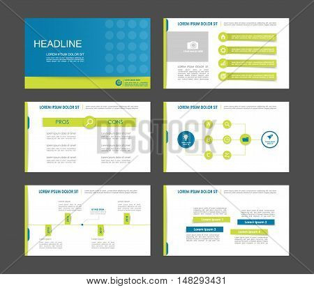 Set of green gray infographic elements for presentation templates. Leaflet, Annual report, book cover design. Brochure, layout, Flyer layout template design.