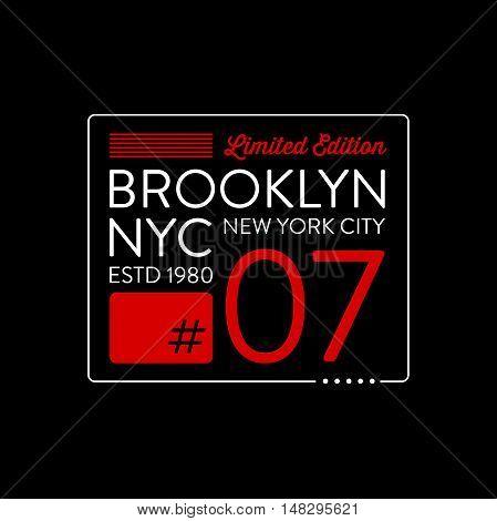 Brooklyn typography design. T-shirt graphics. Vector illustration