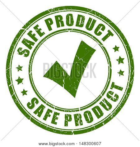 Safe product rubber stamp vector illustration isolated on white background