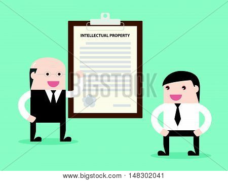 Executive Talking About Contract