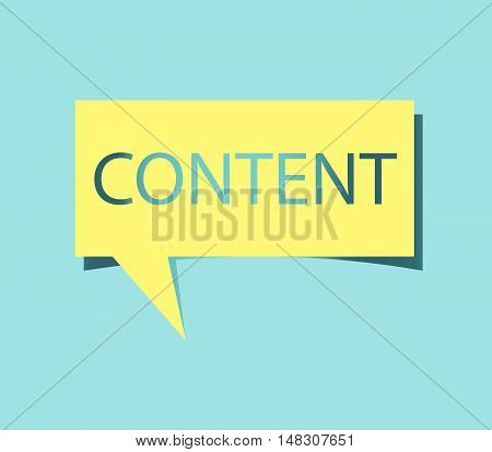 Square Speech Bubble With Content Text