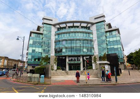 Edinburgh Scotland - September 10 2016: modern building of a law firm in Edinburgh. Edinburgh is the capital of Scotland its historic old and new town are are listed as UNESCO World Heritage Site