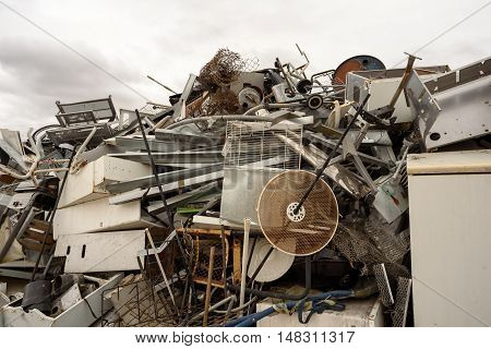 Lots Of Scrap Metal And White Goods