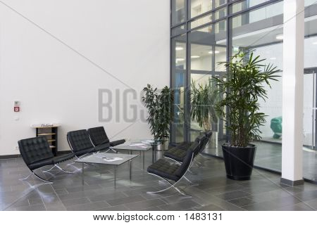 Lobby Of A Modern Office Building