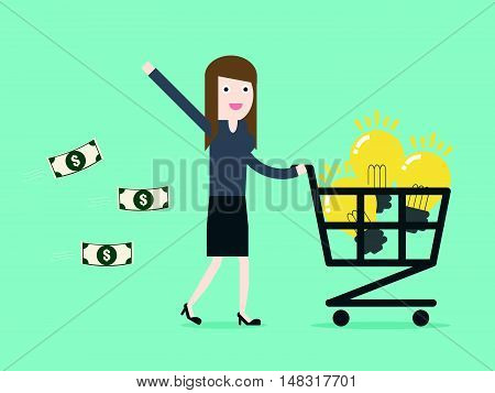 Shopping Idea By Businesswoman