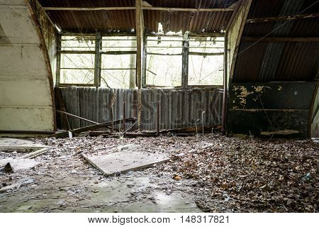Abandoned Raf Shelter Interior