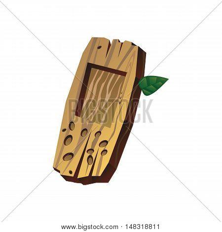 Старый, деревянный мобильный телефон, векторная иллюстрация для веб-дизайна и полиграфии