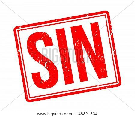Sin Rubber Stamp