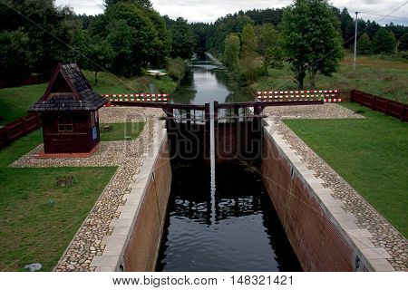 Augustow Canal in Poland was constructed at XIX century