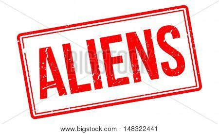Aliens Rubber Stamp