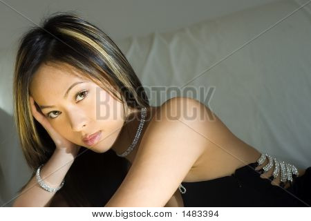 Elegant Woman With Confident Expression