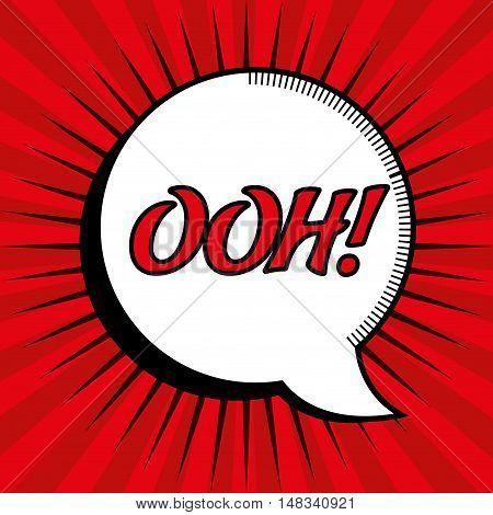 cartoon comic bubble speech ooh design vector illustration eps 10