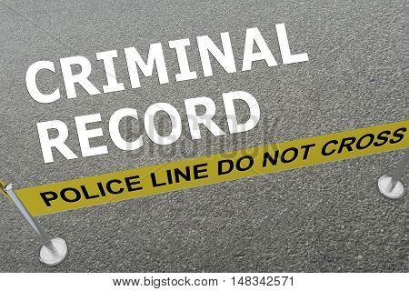 Criminal Record Concept