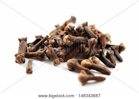 Pile Of Dried Cloves (syzygium Aromaticum)