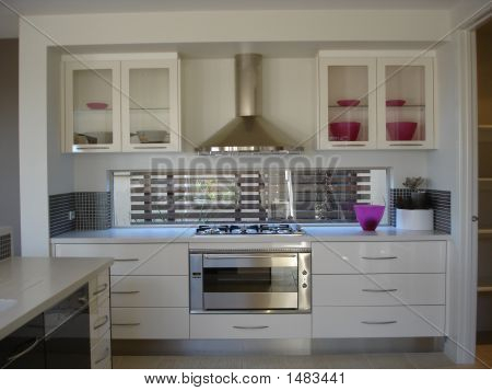 Contemporary Kitchen In White
