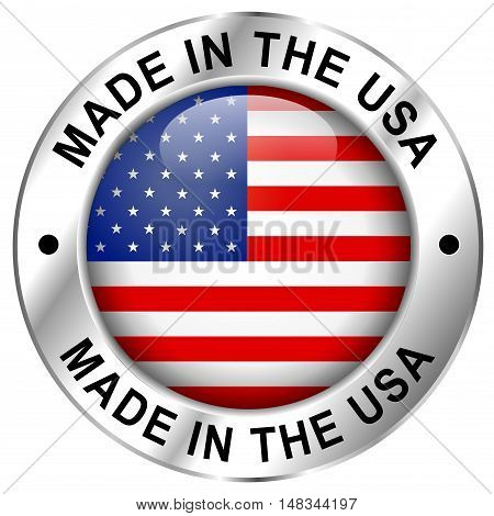 Made in usa icon on white background