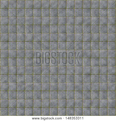 gray tileable cobblestone texture pattern background with moss