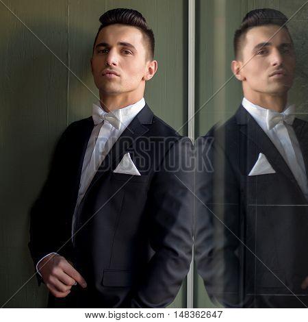 Elegant Man With Head Up