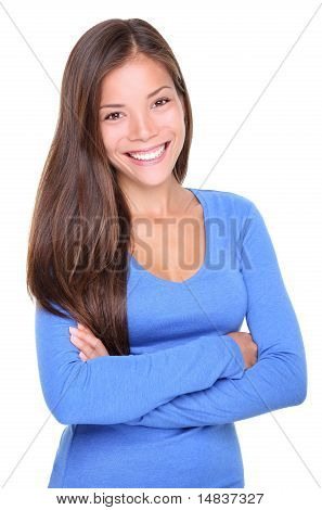 Young Asian Woman Smiling Casual