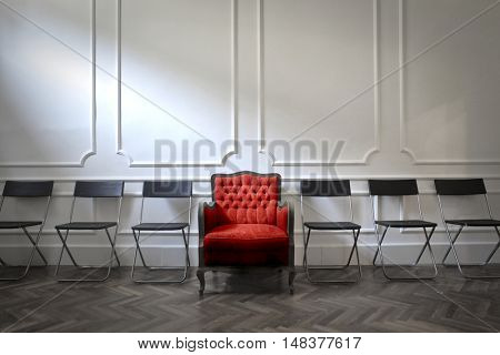 Comfortable armchair for a special guest
