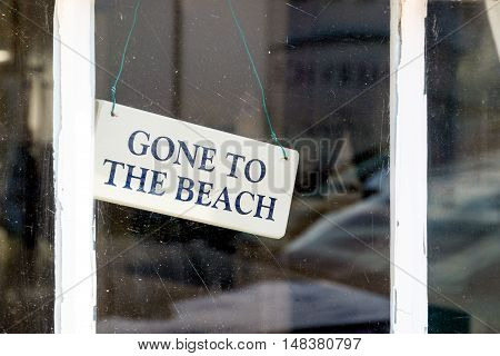 Gone To The Beach Wooden Sign