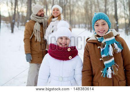 Kids in winterwear