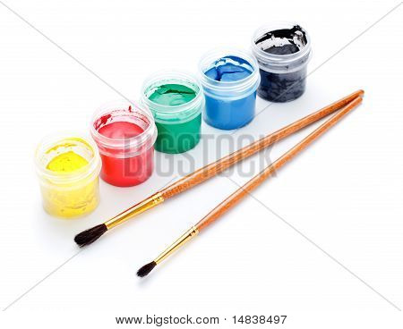 Paint Cans and Brushes