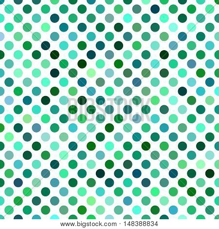 Green abstract polkadot pattern background design - vector illustration