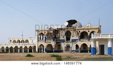 Ruins of former Haile Selassie residence in Massawa Eritrea