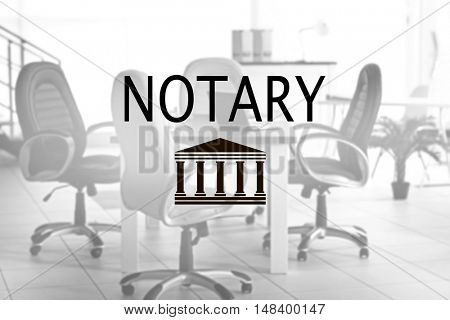 NOTARY. Modern office