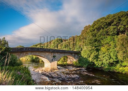 Eals Bridge over River South Tyne, is grade 2 listed and is a two-arched stone road bridge, mid way between Alston and Haltwhistle in Northumberland