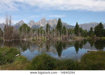 Teton Mountains Reflecting