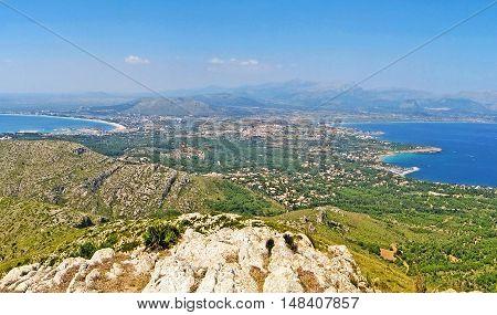 Majorca Panorama, Peninsula Victoria, Bay Of Pollenca / Alcudia