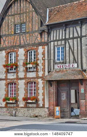 Neufchatel en Bray France - june 23 2016 : the Mathon Durand museum