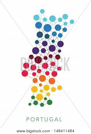 dotted texture Portugal multicolored abstract vector background