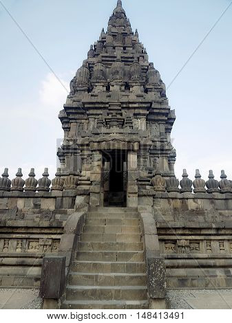 Prambanan temple the 9th-century Hindu temple compound in Central Java Indonesia and is also a UNESCO world heritage site.