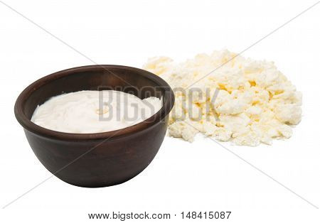 cottage cheese with sour cream  product closeup