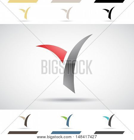 Design Concept of Colorful Stock Icons and Shapes of Letter Y, Illustration