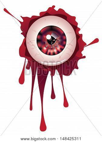 Halloween Bloody Eyeball