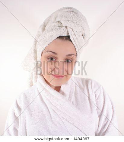 Woman In Bathrobe #2