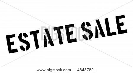 Estate Sale Rubber Stamp