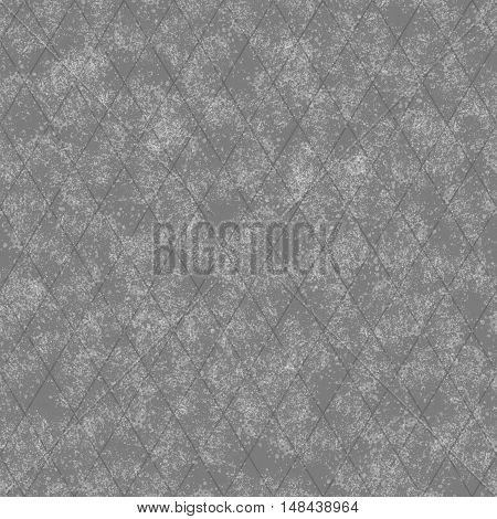 Gray Grunge Diamond Tile Pattern Repeat Background that is seamless and repeats