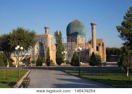 The mausoleum of Tamerlane in Samarkand. Uzbekistan.