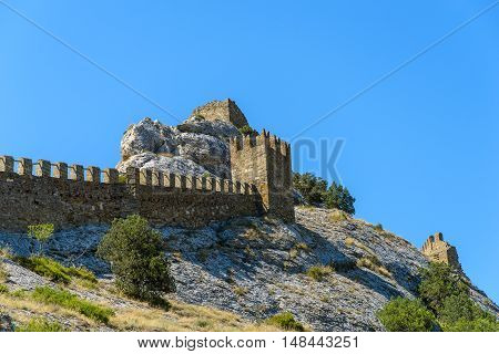 The ruins of the Genoese fortress in Sudak