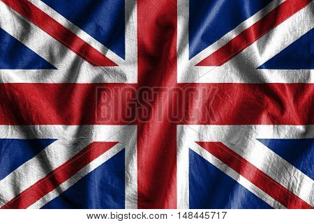 Waving flag of United Kingdom - background flag